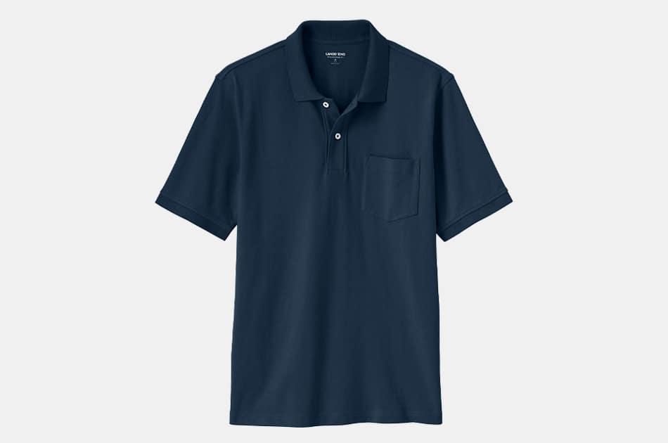 Lands' End Mesh Polo Shirt