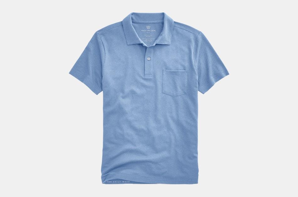 Mack Weldon Vesper Polo Shirt (total eclipse blue)