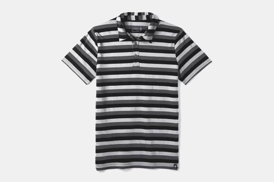 Smartwool Merino 150 Pattern Polo Shirt (deep navy)