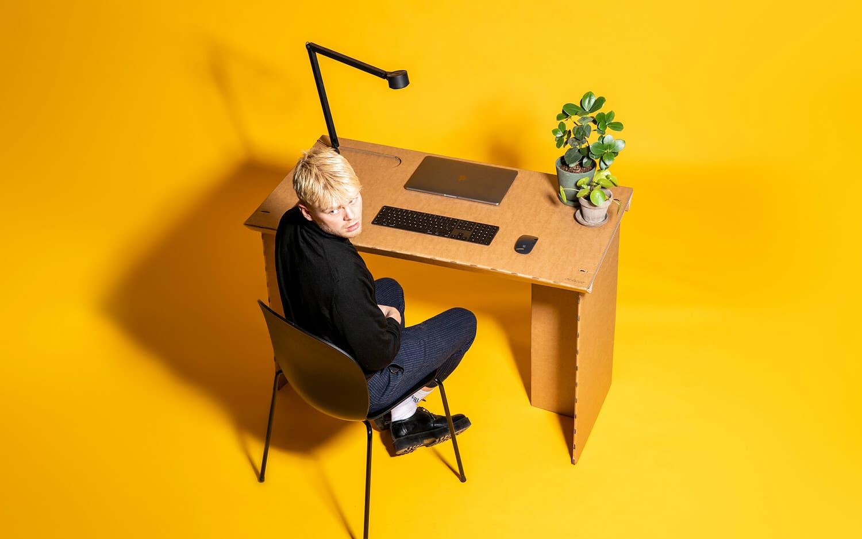 StayTheF***Home Cardboard Desk