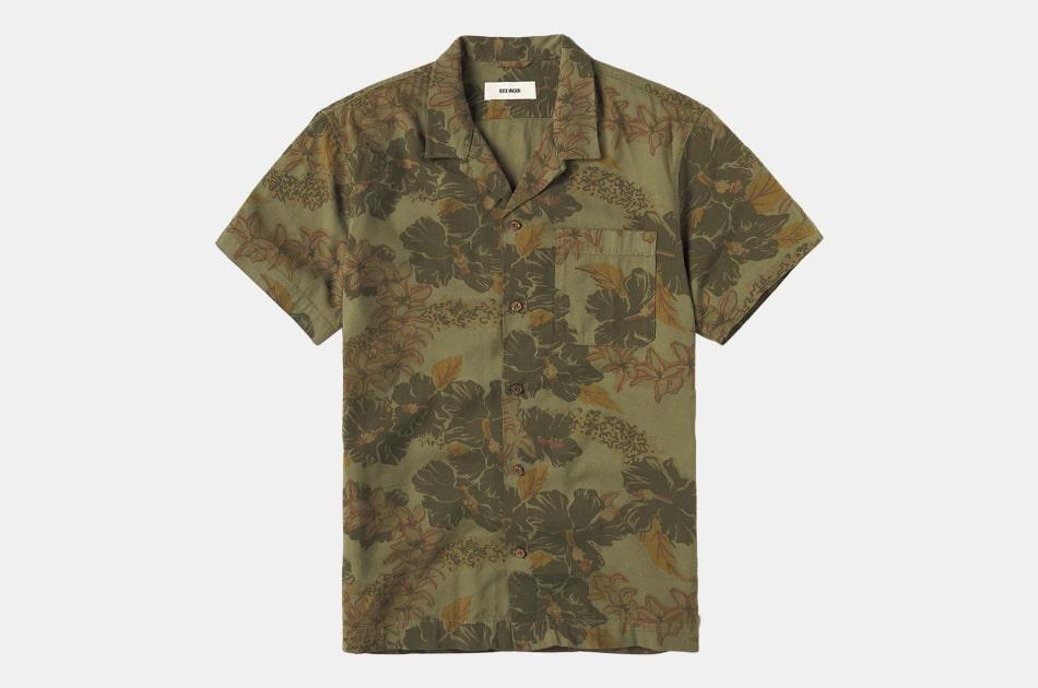 Buck Mason Kauai DrapedTwill Short Sleeve Vintage Camp Shirt