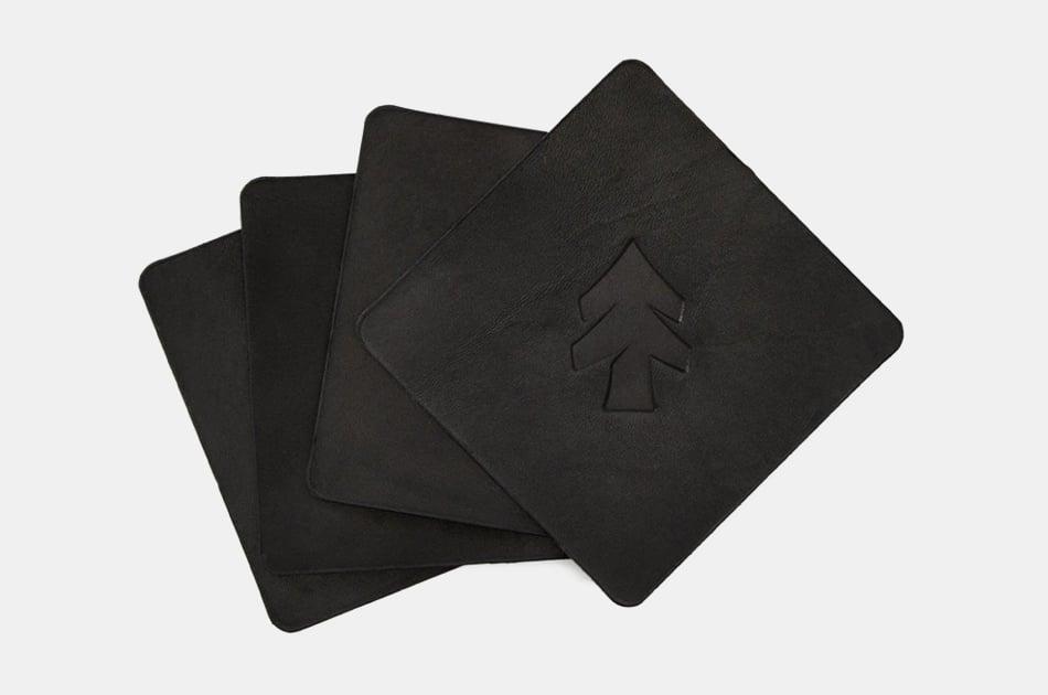 Huckberry Leather Coasters