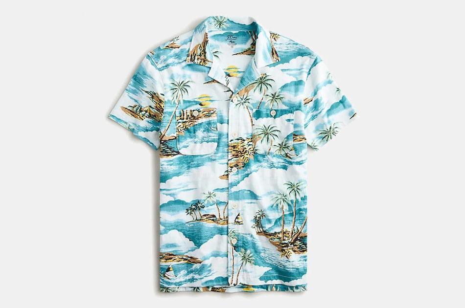 J.Crew Camp-Collar Harbor Shirt