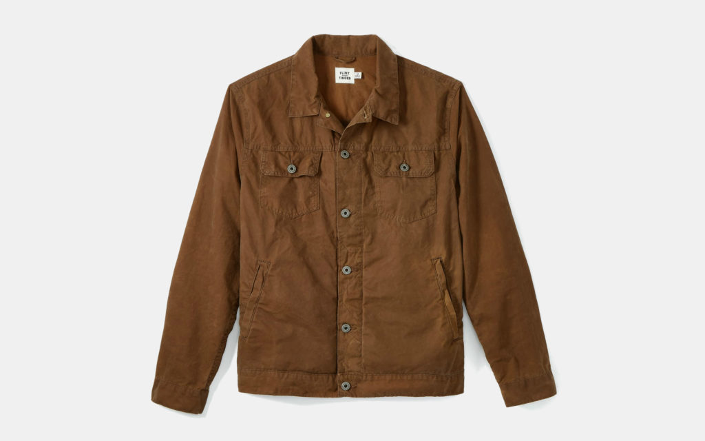 Flint and Tinder Unlined Waxed Trucker Jacket