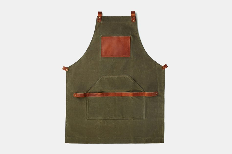 OLPR Waxed Canvas and Leather Apron