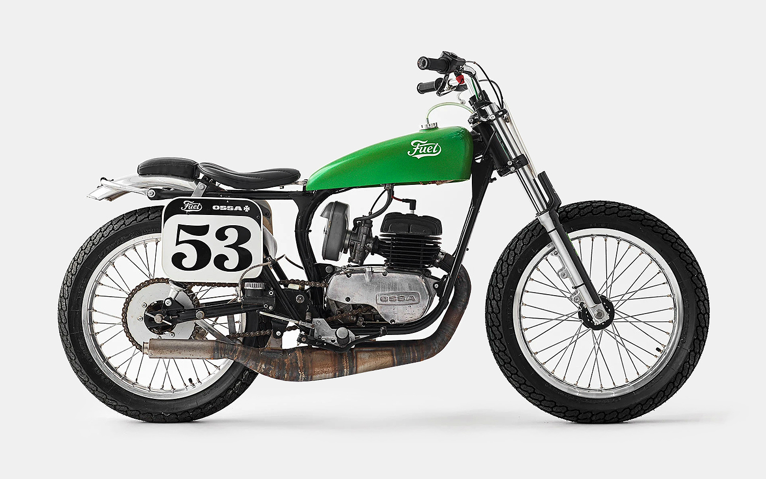 Fuel Motorcycles The Green Wasp OSSA Mototcycle