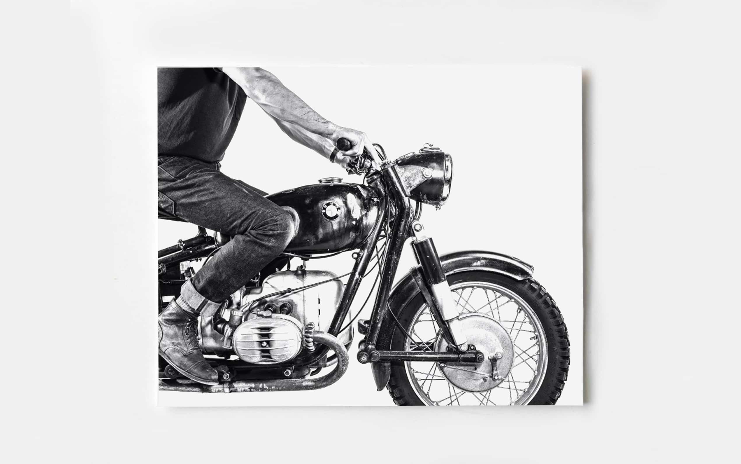 Jack Ludlam Signed BMW Moto Print