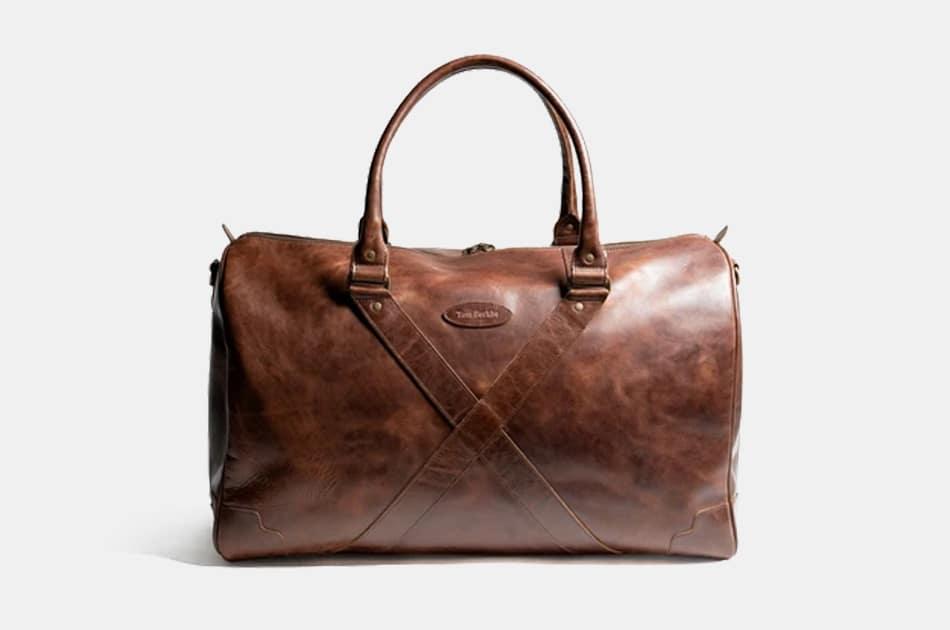 Tom Beckbe Leather Weekender Bag