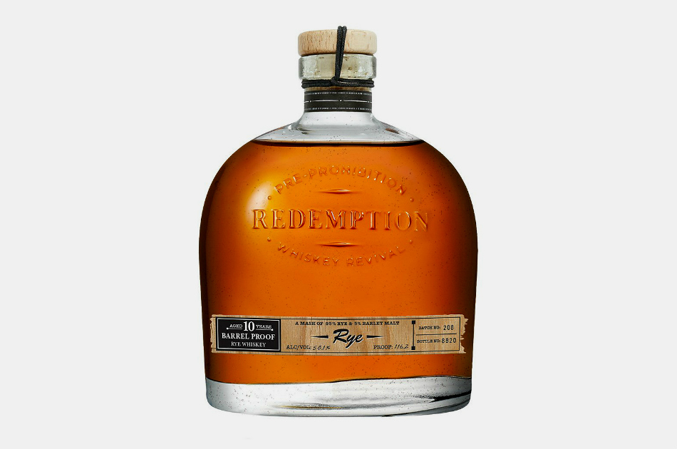 Redemption 10 Year Barrel Proof Rye Whiskey