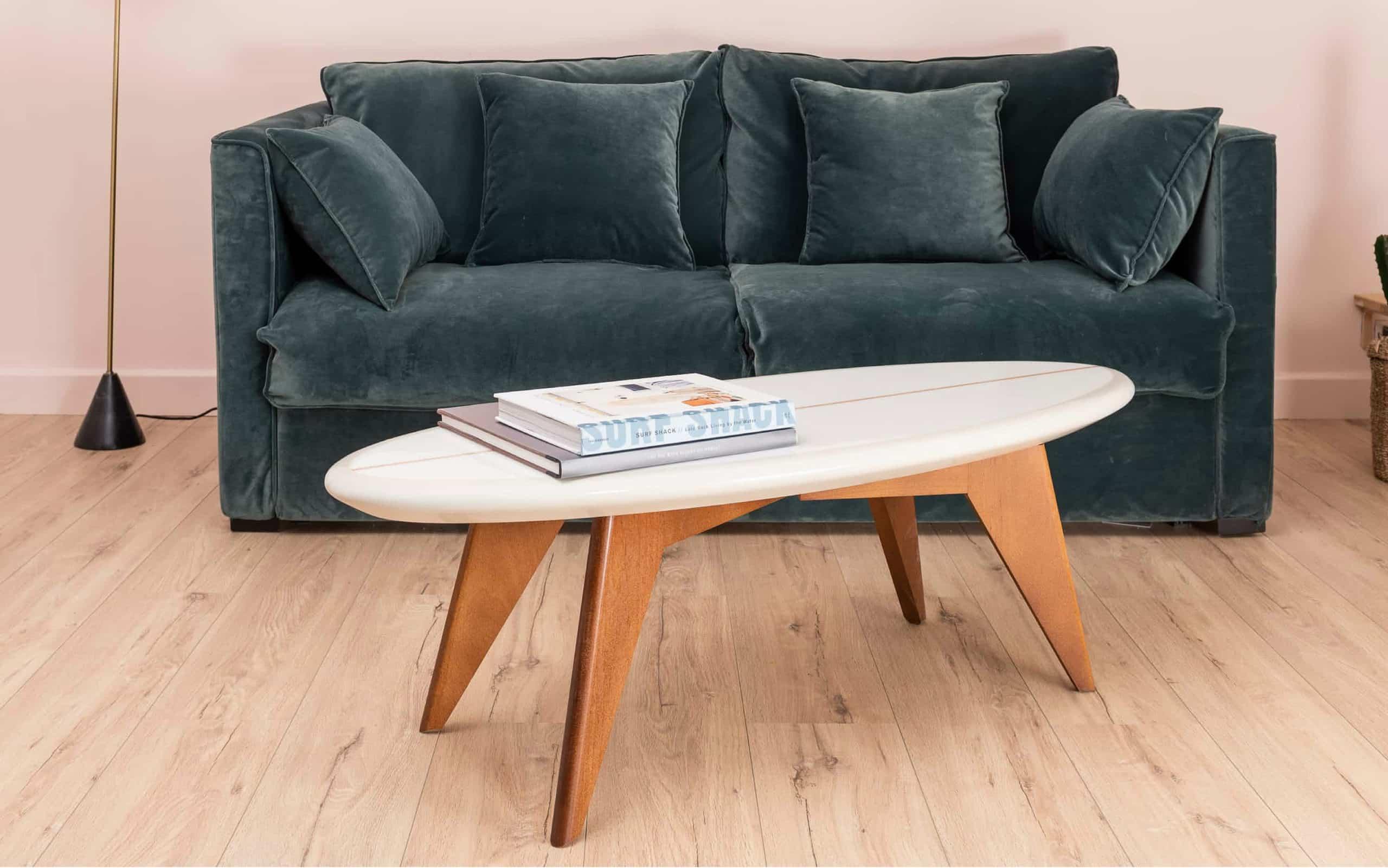 Salty Surfboard Coffee Table