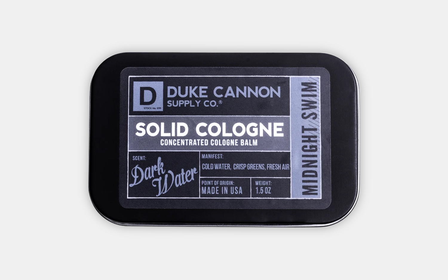 Duke Cannon Midnight Swim Solid Cologne