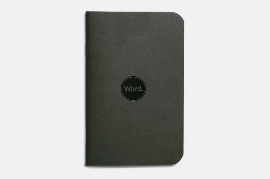 Word. New Black Notebook