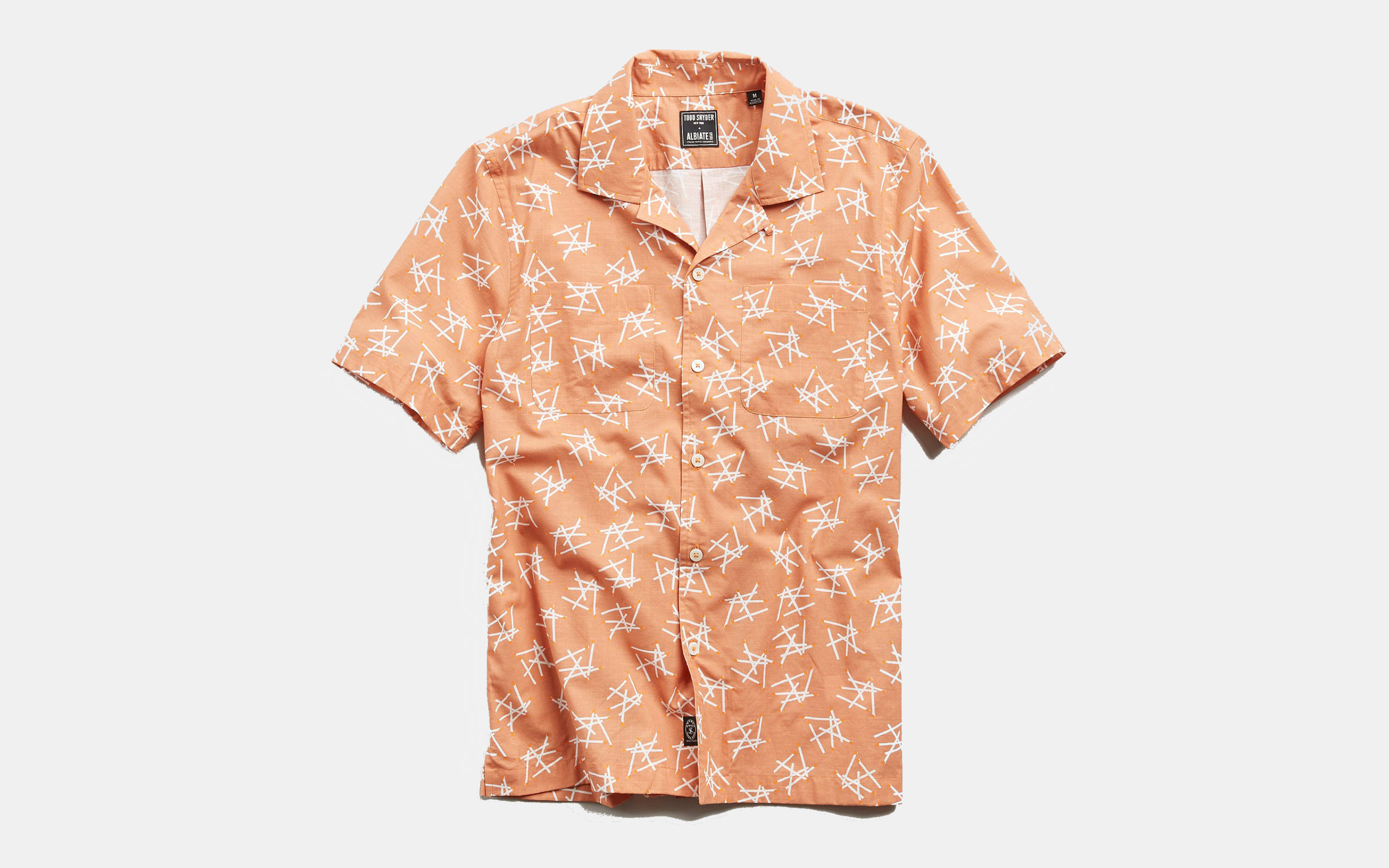 Todd Snyder Limited Edition Matchstick Print Camp Shirt