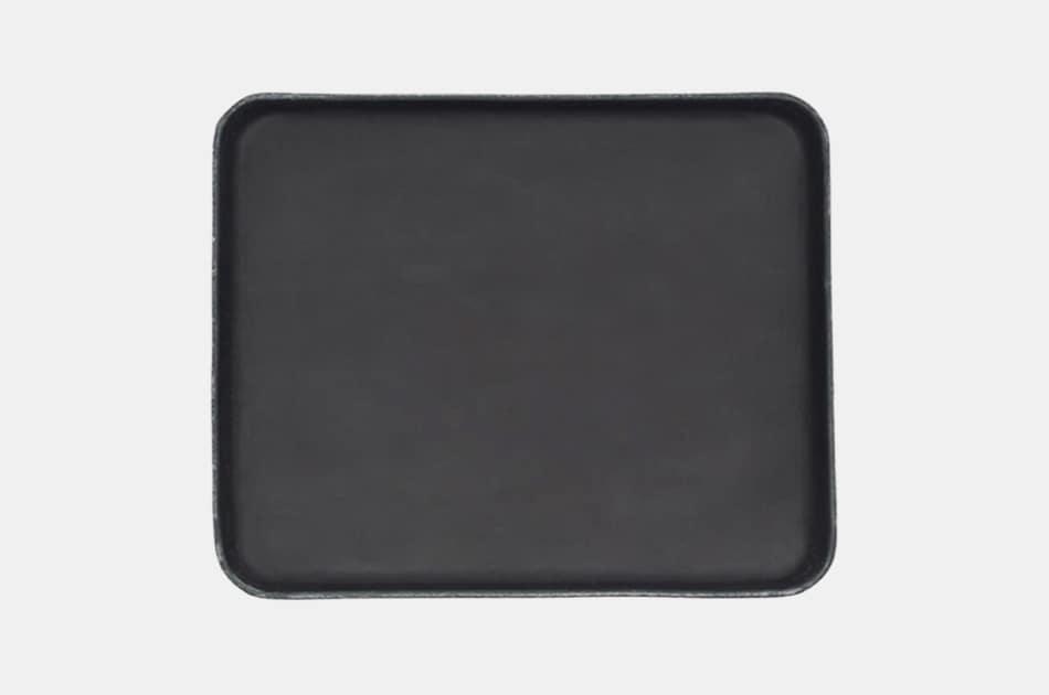 Bar W. R. Black Leather Valet Tray