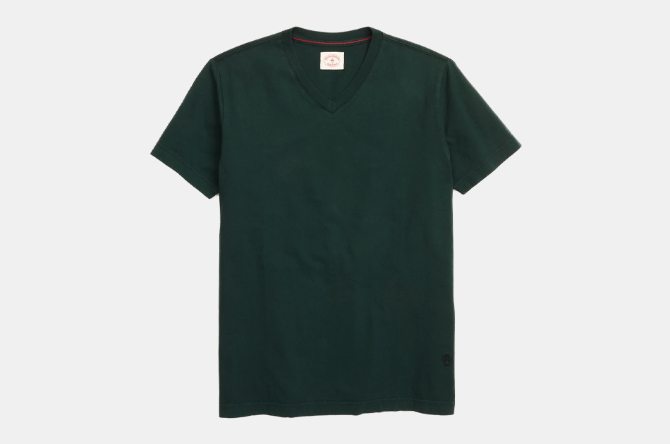 Brooks Brothers Garment-Dyed V-Neck T-Shir