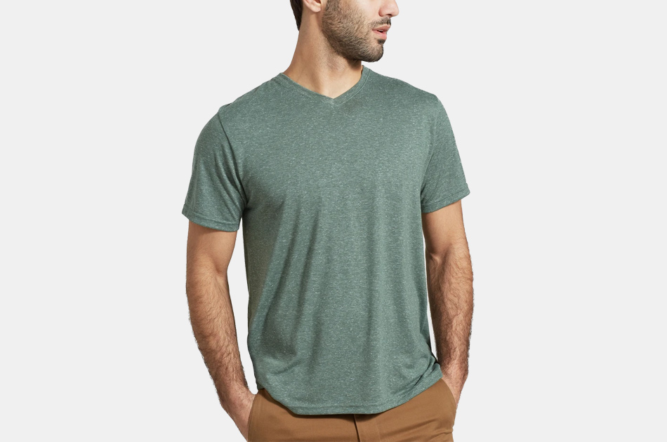 United By Blue EcoKnit V-Neck Tee