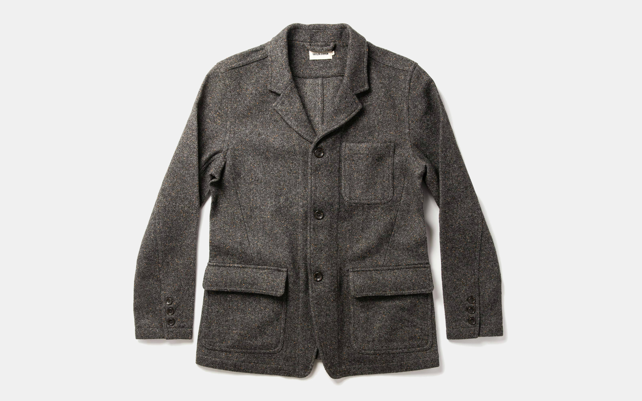 Taylor Stitch Gibson Jacket in Charcoal Birdseye Wool