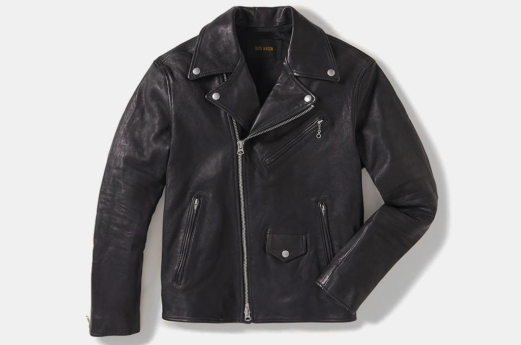 Buck Mason Bruiser Leather Moto Jacket