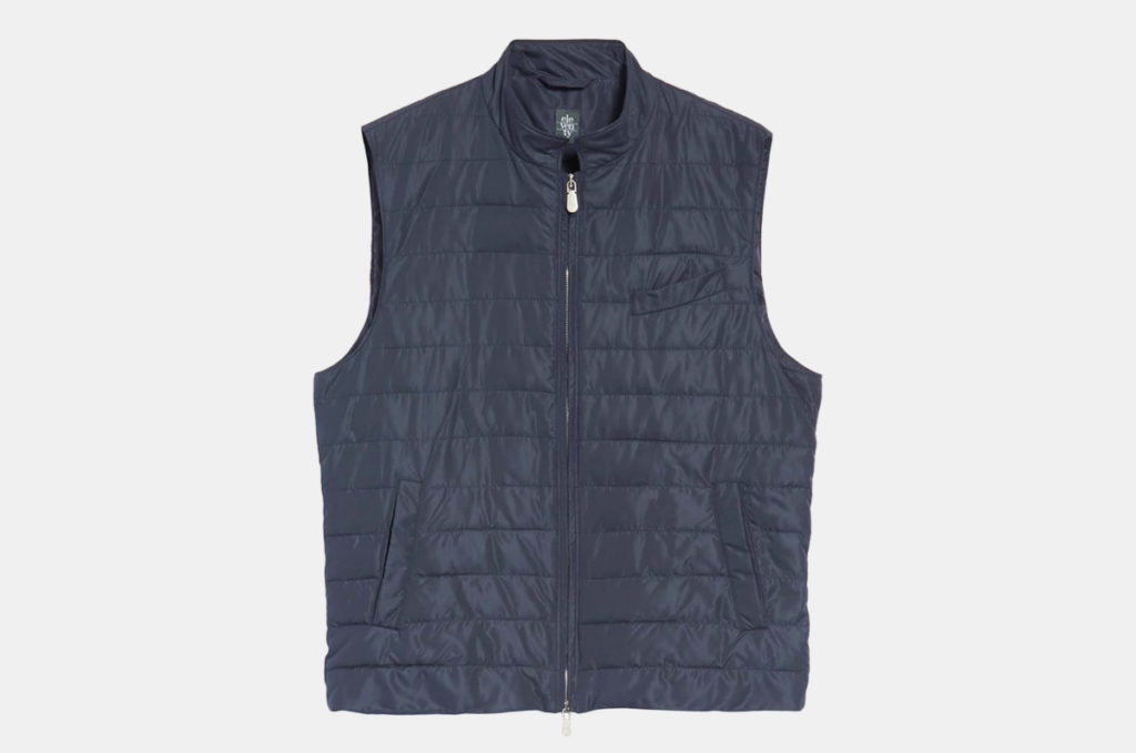 Eleventy Slim Fit Full Zip Vest
