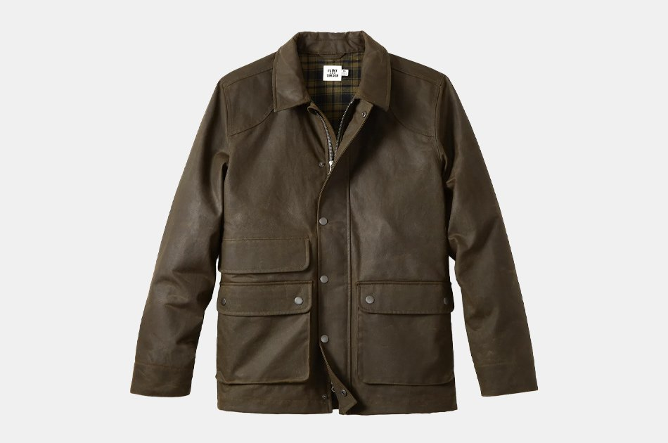 Flint and Tinder Flannel-lined Waxed Hudson Jacket