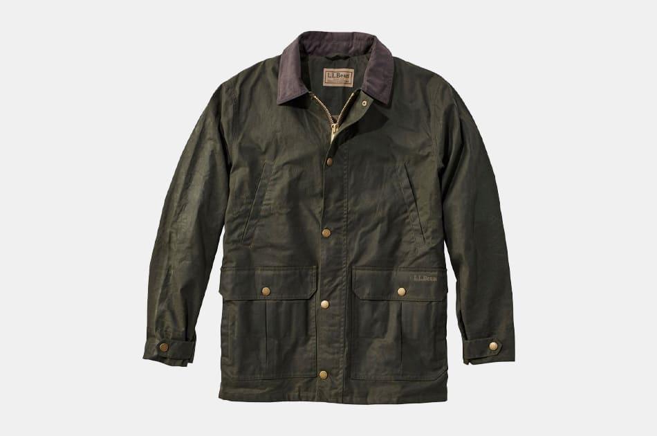 L.L. Bean Waxed-Cotton Upland Coat
