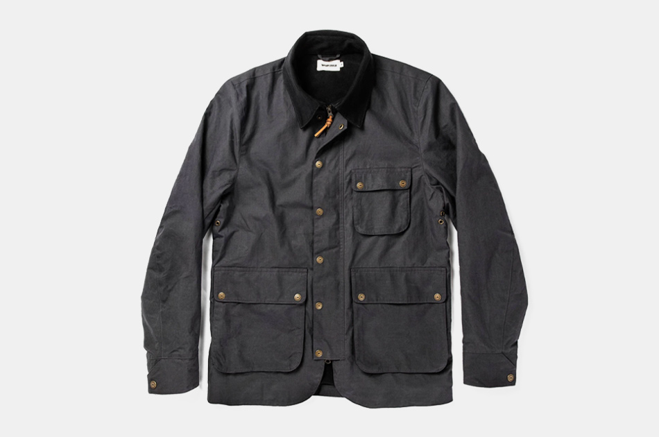 Taylor Stitch Rover Jacket in Ripstop Slate Dry Wax