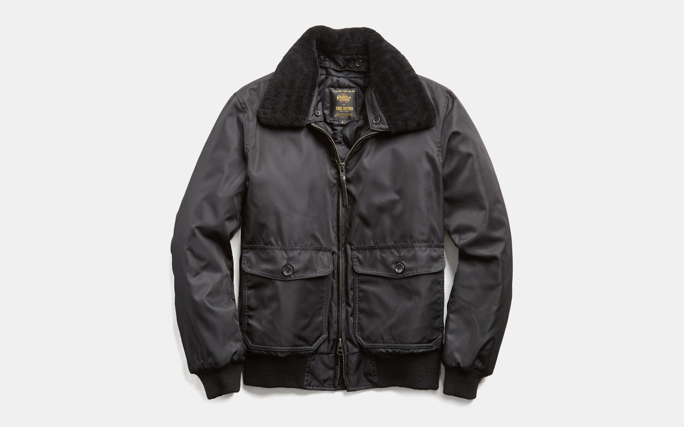 Todd Snyder x Golden Bear Shearling Collar Bomber Jacket