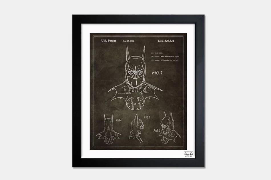 'Batman 1992' Blueprint Patent Art