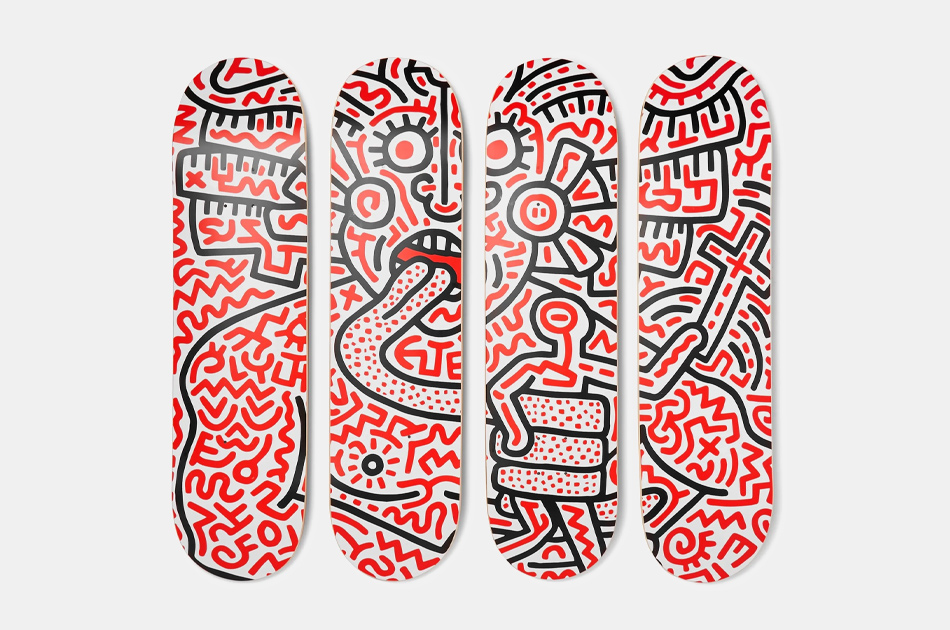 The SkateRoom x Keith Haring Printed Wooden Skateboards