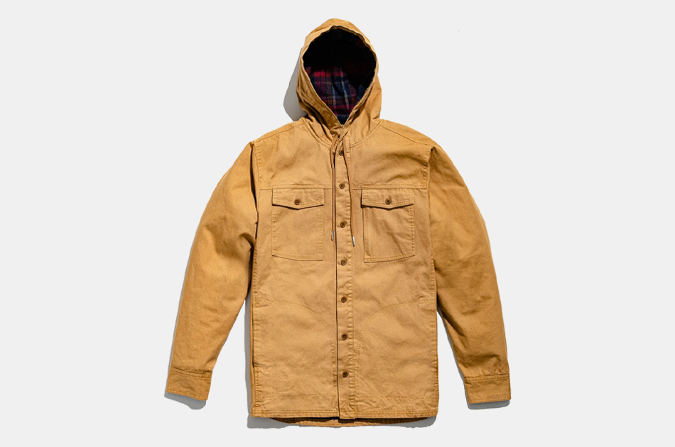 United By Blue Flannel-Lined Hooded Chore Coat