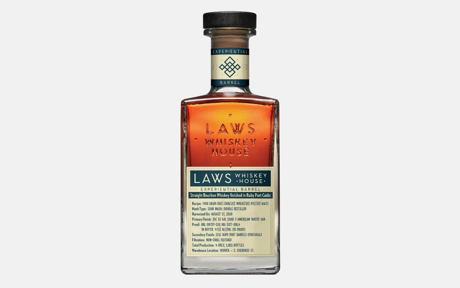 Laws Four Grain Ruby Port Cask Finish Bourbon