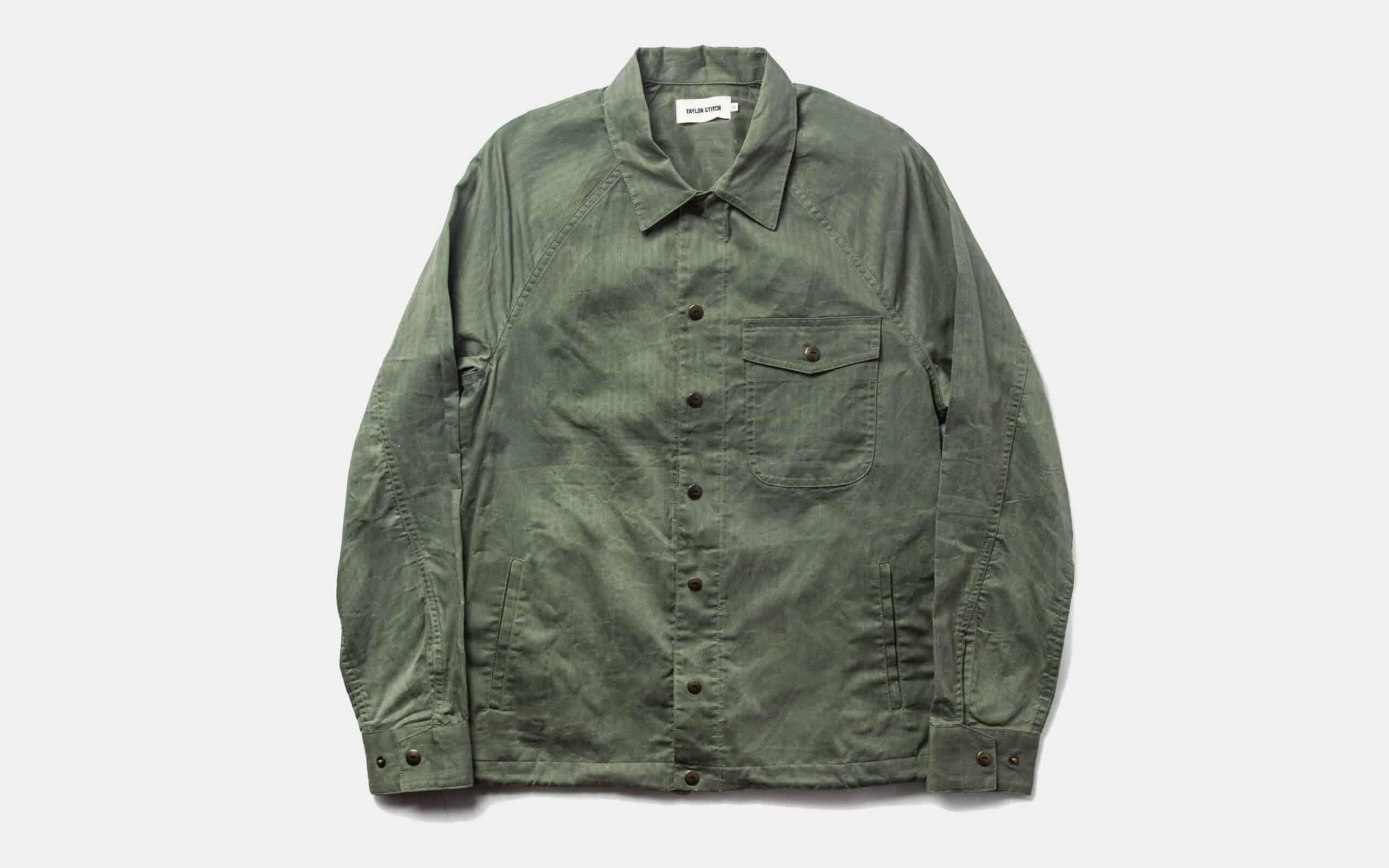 Taylor Stitch Lombardi Jacket in Olive Dry Wax