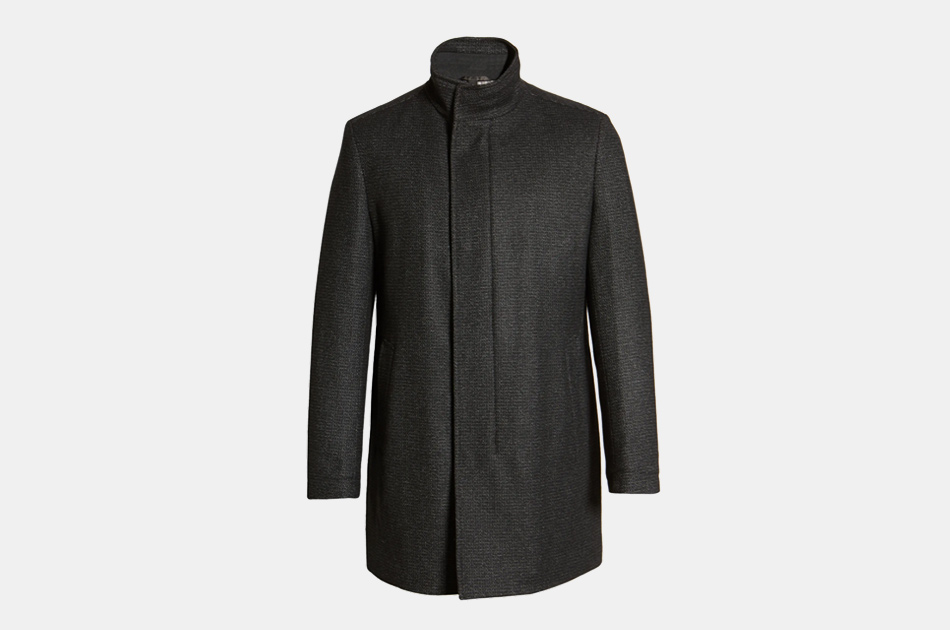 Boss Nieven Men's Wool Blend Topcoat
