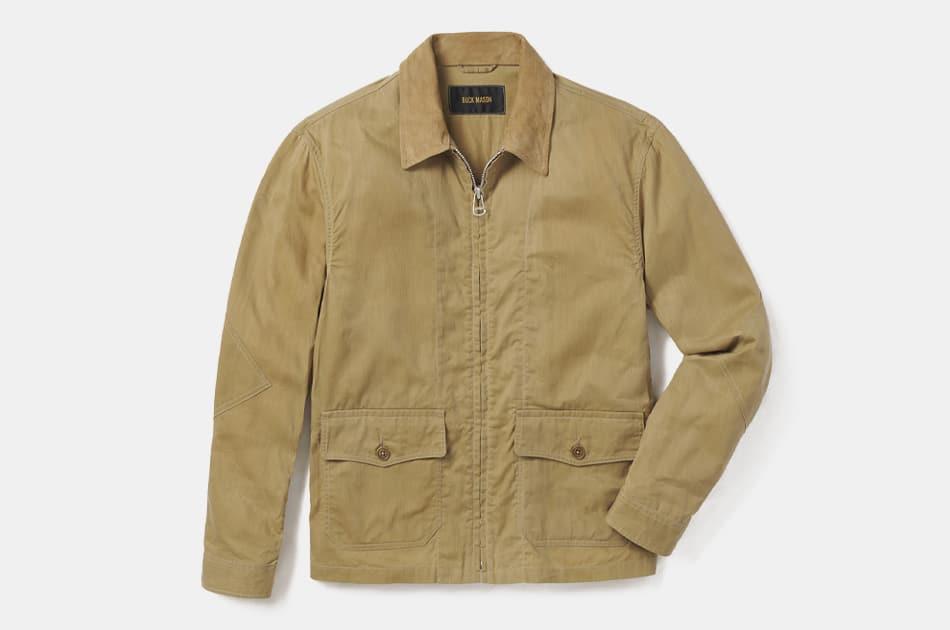 Buck Mason Waxed Herringbone Flight Jacket