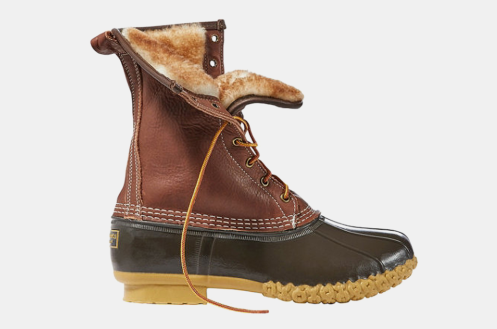 L.L. Bean Shearling-Lined Bean Boots