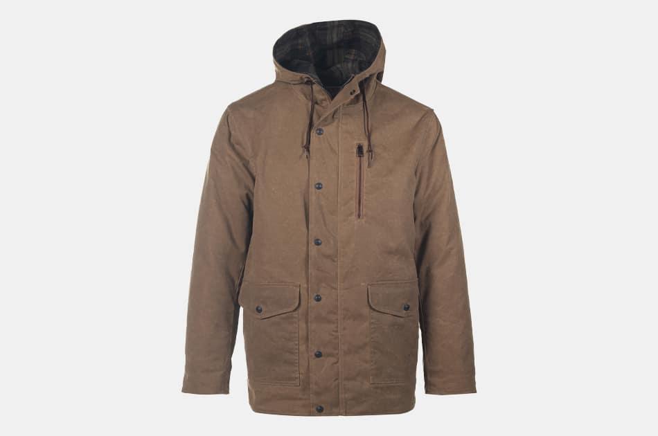 Schott Waxed Cotton Hooded Parka