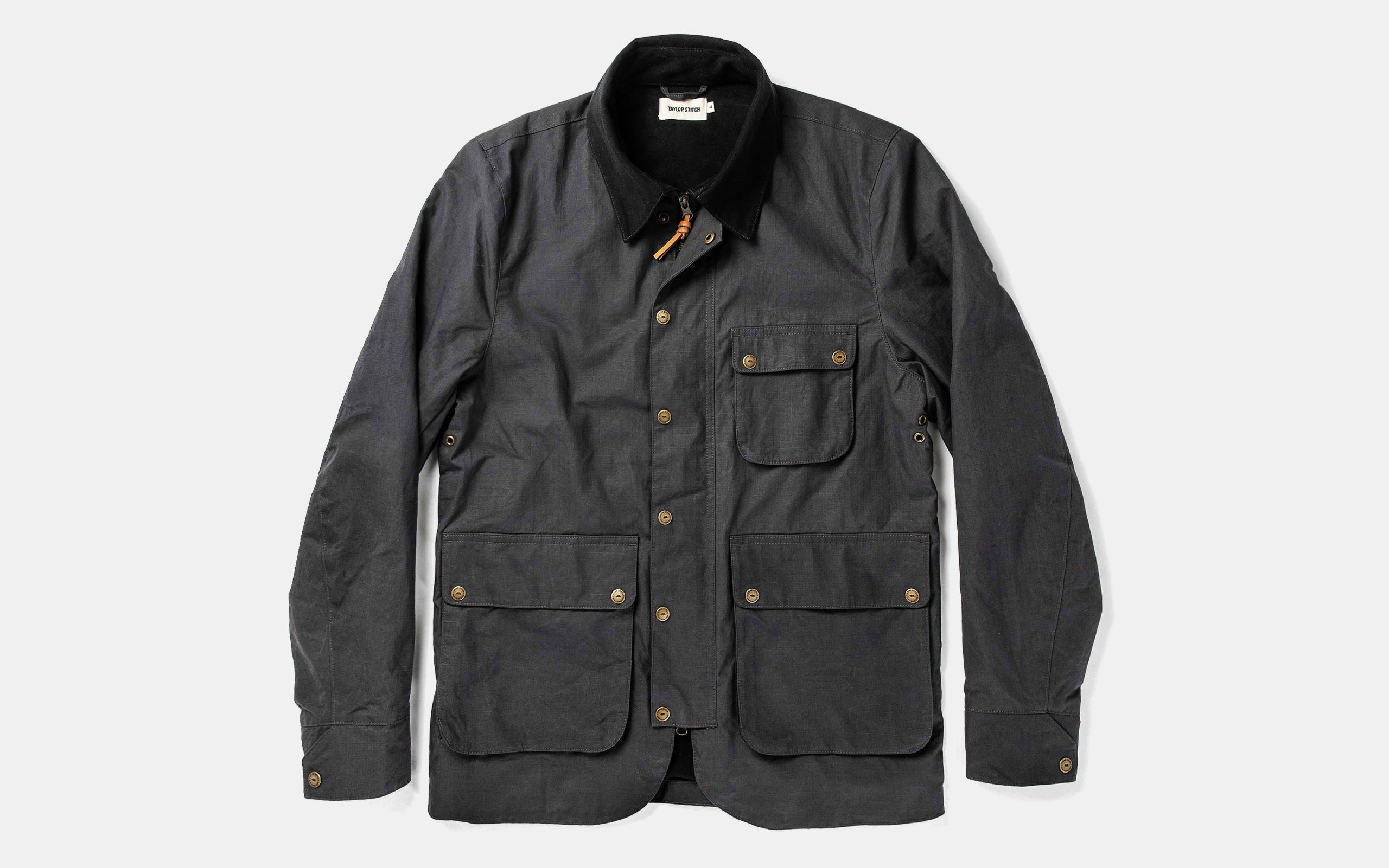 The Rover Jacket in Ripstop Slate Dry Wax