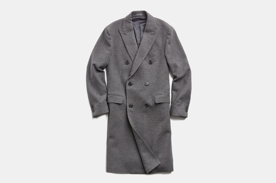 Todd Snyder Italian Cashmere Double Breasted Topcoat