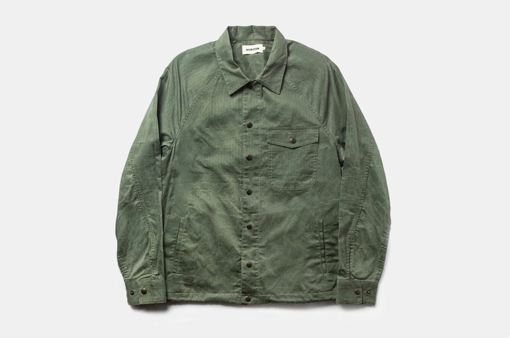 Taylor Stitch Lombardi Jacket in Olive Dry Wax