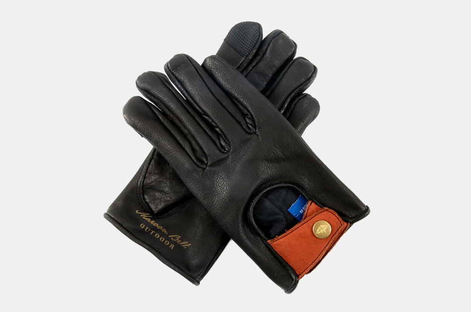 Maroon Bell Buffalo Leather Driving Gloves