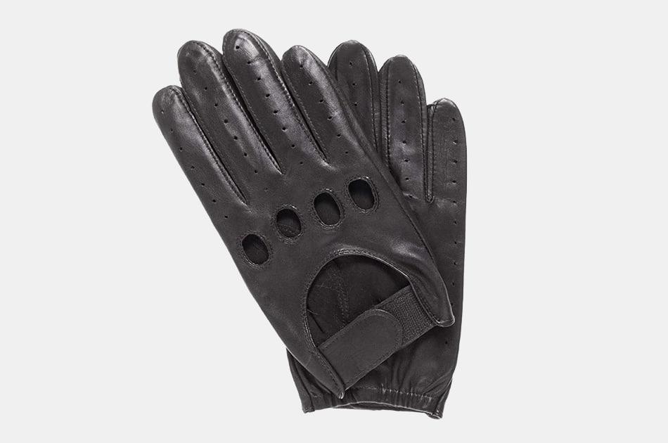 Pratt & Hart Downshift Leather Driving Gloves