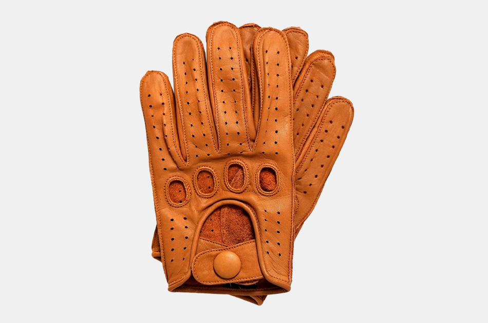 Riparo Reverse Stitched Leather Driving Gloves