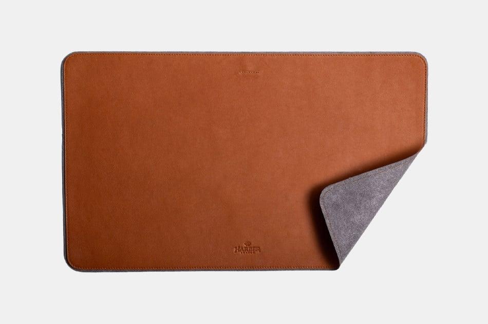 Harbor London Leather Desk Mat