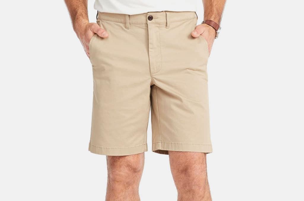 L.L. Bean Men's Lakewashed Stretch Khaki Shorts