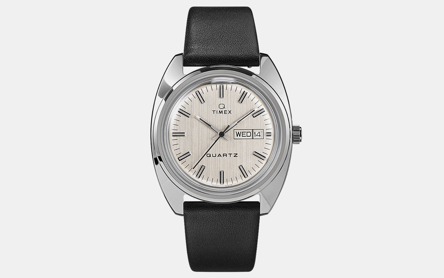 Q Timex 1978 Reissue Day-Date Watch