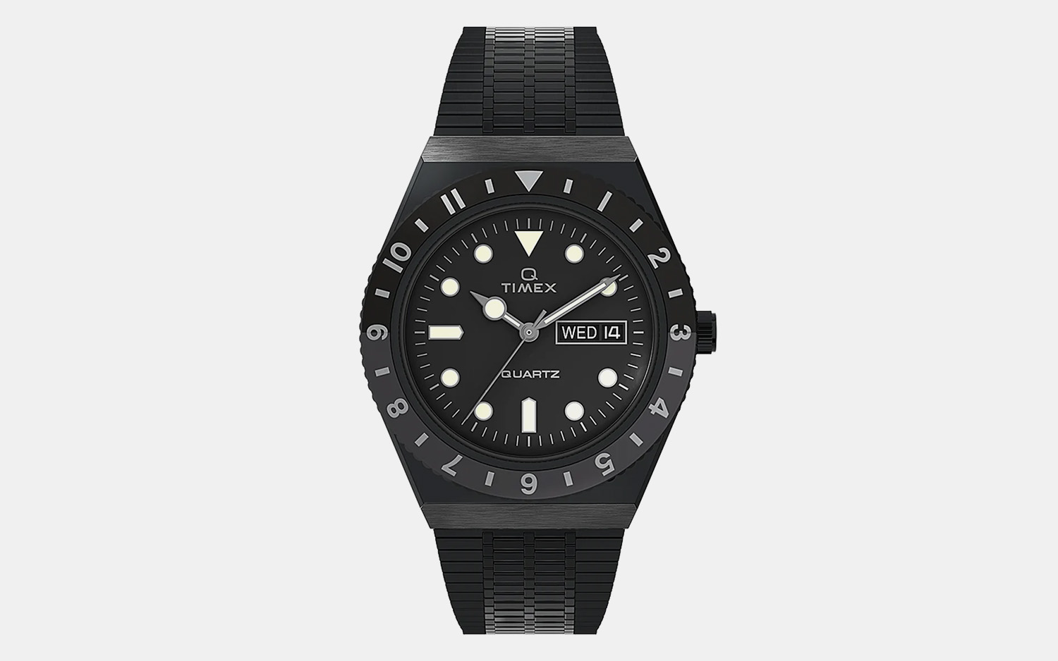 Q Timex Reissue Blacked Out Watch