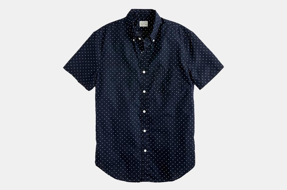 J.Crew Short-Sleeve Stretch Shirt