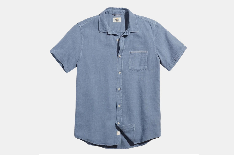 Marine Layer Selvage Short Sleeve Button-Up Shirt
