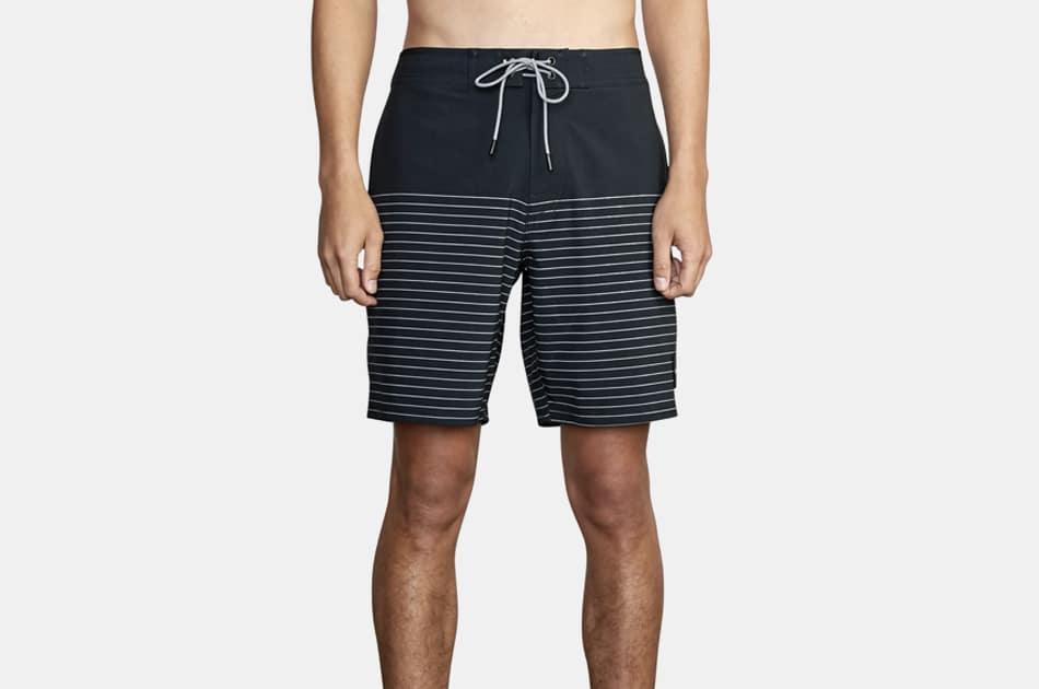RVCA Current Stripe Water Repellent Board Shorts