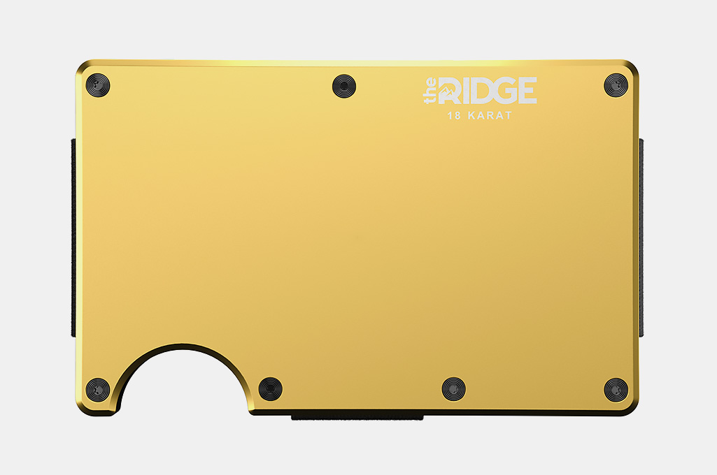 The Ridge 18 Karat Gold Plated Wallet